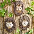 3 Realistic Owl Garden Sculptures