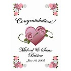 Standard Size Personalized Heart Congratulations Wedding Flag