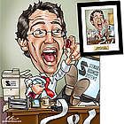 Personalized Accountant Caricature