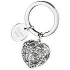 Crown Heart Crystal Rhinestone Key Holder