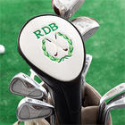 Personalized Golf Club Head Cover with Crest