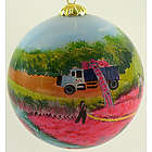 Cranberry Harvest Handpainted Ornament