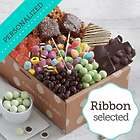 Chocolate and Sweets Gift Box with Personalized Ribbon
