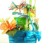 Summertime Fun Gift Basket in Straw Tote