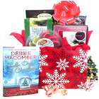 Merry Snowflakes Bestseller Book Holiday Gift Basket