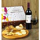 Happy Birthday! Red Wine and Gourmet Gift Box