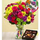 Large It's Your Day Happy Birthday Bouquet with Chocolates