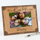 I'm Lucky To Call You Dad Personalized Wooden Picture Frame