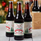 Personalized Holiday Brew Beer Bottle Labels