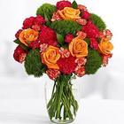 Sweet Tangerine Rose, Carnation, and Dianthus Bouquet
