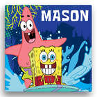 Personalized Spongebob SquarePants Surfing Canvas Wall Art