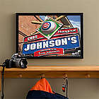 Personalized Chicago Cubs Bar Medium Art Print