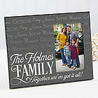 Family is Love Personalized Frame