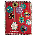 Personalized Holiday Ornaments Tapestry Throw Blanket