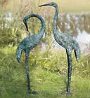 Garden Cranes with Patina