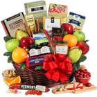 Gourmet Fruit and Bites Gift Basket
