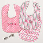 Personalized Pretty in Pink Baby Girl Bib