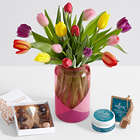 All-In-One 15 Multi-Colored Tulip Bouquet for Mom