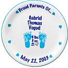 Personalized Boy's Birth Plate