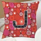 Personalized Red Holiday Pillow