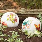 Watercolor Ceramic Garden Globe