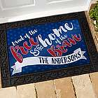 Land of the Free Personalized July 4th American Doormat