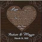 Personalized Love Never Fails Canvas