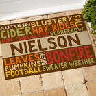 Personalized Fall Fun Recycled Doormat