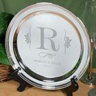 Engraved Wedding Serving Tray