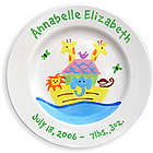 Personalized Noah's Ark Baby Girl Plate