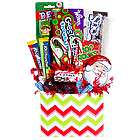 Christmas Candy in Chevron Print Gift Basket
