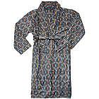 Mens Cotton Ikat Wrap Robe