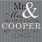 Personalized Happy Couple Canvas