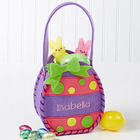Girl's Personalized Purple Easter Egg Treat Bag