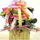 Birdhouse Planter Gift Basket