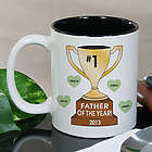 Personalized Number One Dad Trophy Mug