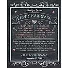 Personalized Happy Marriage Recipe Canvas