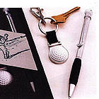Personalized Golf Ball Pen and Key Chain Set