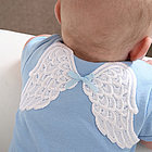 Personalized Blue Baby T-shirt with Angel Wings