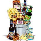 Craft Beer and Gourmet Snacks Gift Bucket