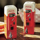 Retro Coca-cola Vending Machines Salt and Pepper Set