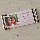 Personalized Photo Wedding Favor Candy Bar Wrappers