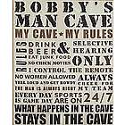 Personalized Man Cave Rules Canvas Wall Art