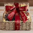 Nuts and Sweets Gift Basket with Thank You Ribbon