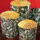 Winter Berries Popcorn Tin - 6 1/2 Gallon 3 Way