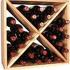 24 Bottle Ponderosa Pine Wine Storage Cube