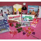 Valentine's Day Movie Night Gift Basket with 2 DVDs