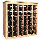 Wooden 36 Bottle Deluxe Cabinet Style Wine Rack