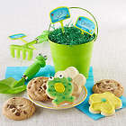 Kid's Frog Garden Tools and Cookies
