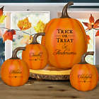 Personalized Trick or Treat Pumpkin Decoration
